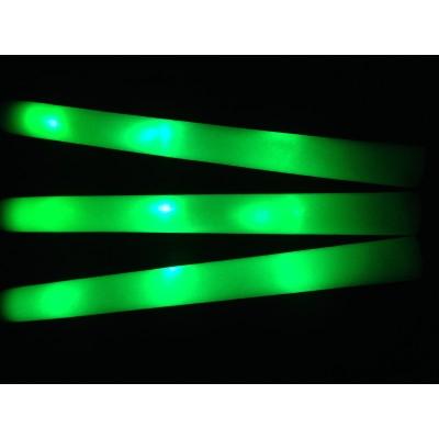 Bâton mousse lumineux leds Vert tap tap lumineux  Articles Led