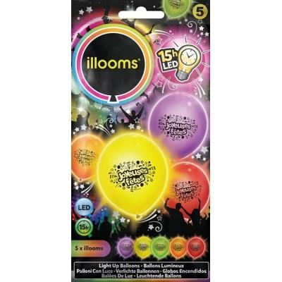 Ballon lumineux joyeuses fête led -illooms