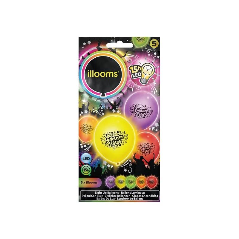 Ballon lumineux joyeuses fête led -illooms Articles Led