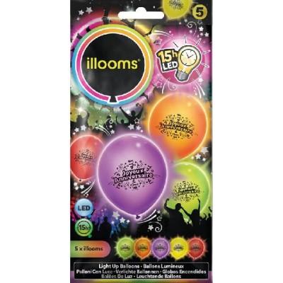 Ballon lumineux joyeux anniversaire led -illooms Articles Led