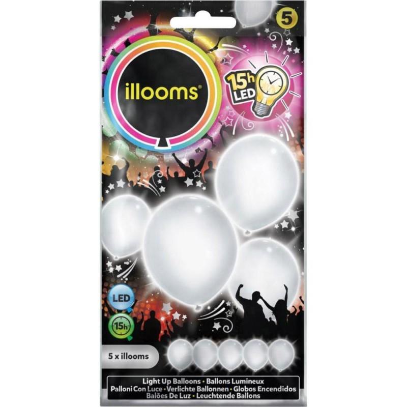 Ballon blanc lumineux - led -illooms Articles Led