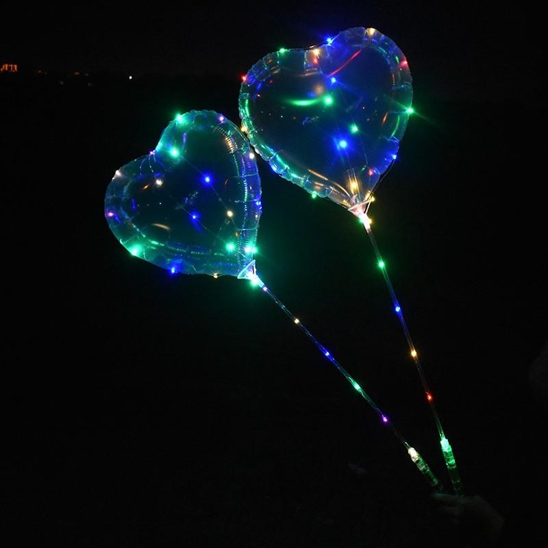 Ballon guirlande lumineux coeur avec bâton lumineux led Articles Led