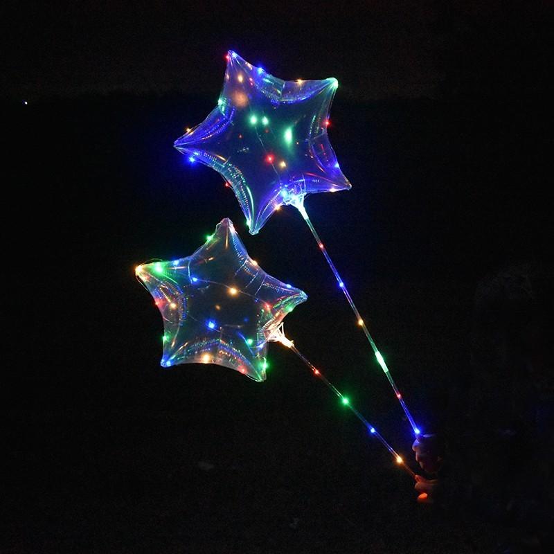 Ballon guirlande lumineux étoile avec bâton lumineux led Articles Led