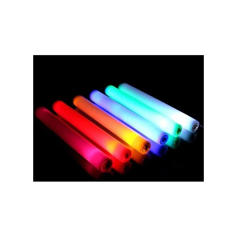 Bâton lumineux mousse à led multicolores ou unicolores- taptap lumineux leds  Articles Led