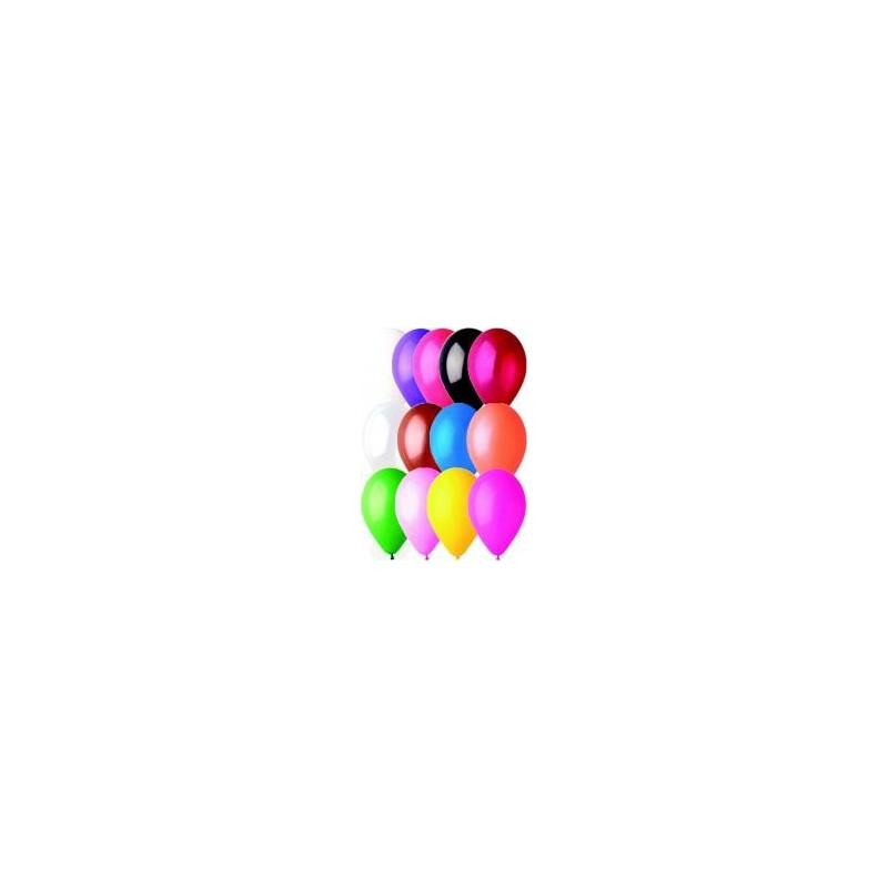 100 Ballons latex mat unis 48cm Accueil