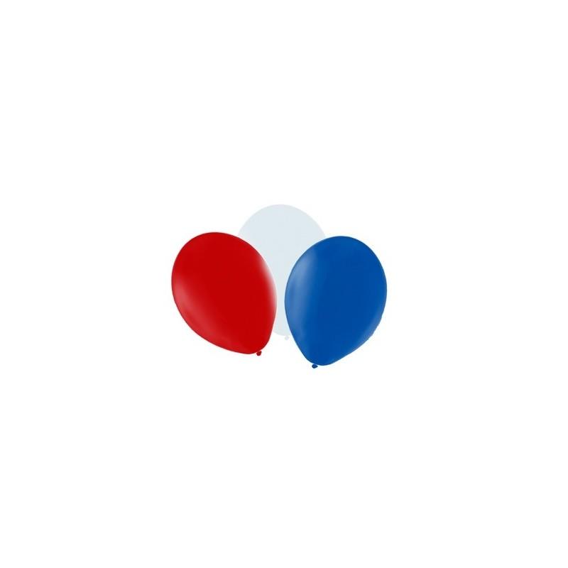 100 Ballons tricolore 30 cm Accueil