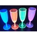 Flute à champagne  Fluo UV lumineuse