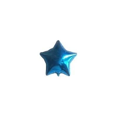 Ballon étoile hélium bleu Accueil
