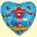 Spiderman ballon coeur  hélium