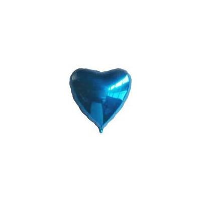 Ballon coeur hélium bleu Accueil