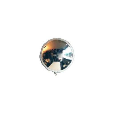 Ballon rond hélium argenté Accueil
