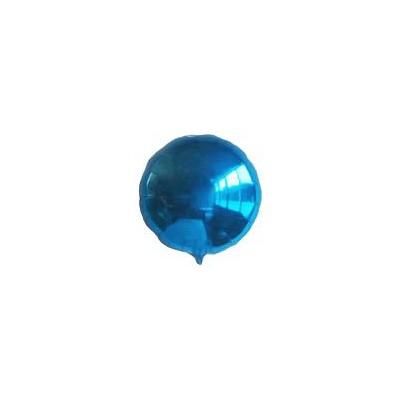 Ballon rond hélium bleu