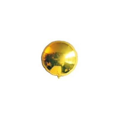 Ballon rond hélium or argenté Accueil