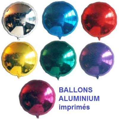 100 Ballons aluminium imprimés rond Accueil