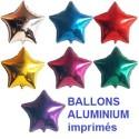 100 Ballons aluminium imprimés étoile