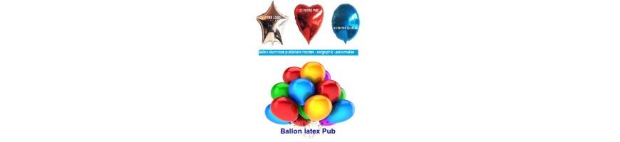 Ballons imprimé pub logotyper